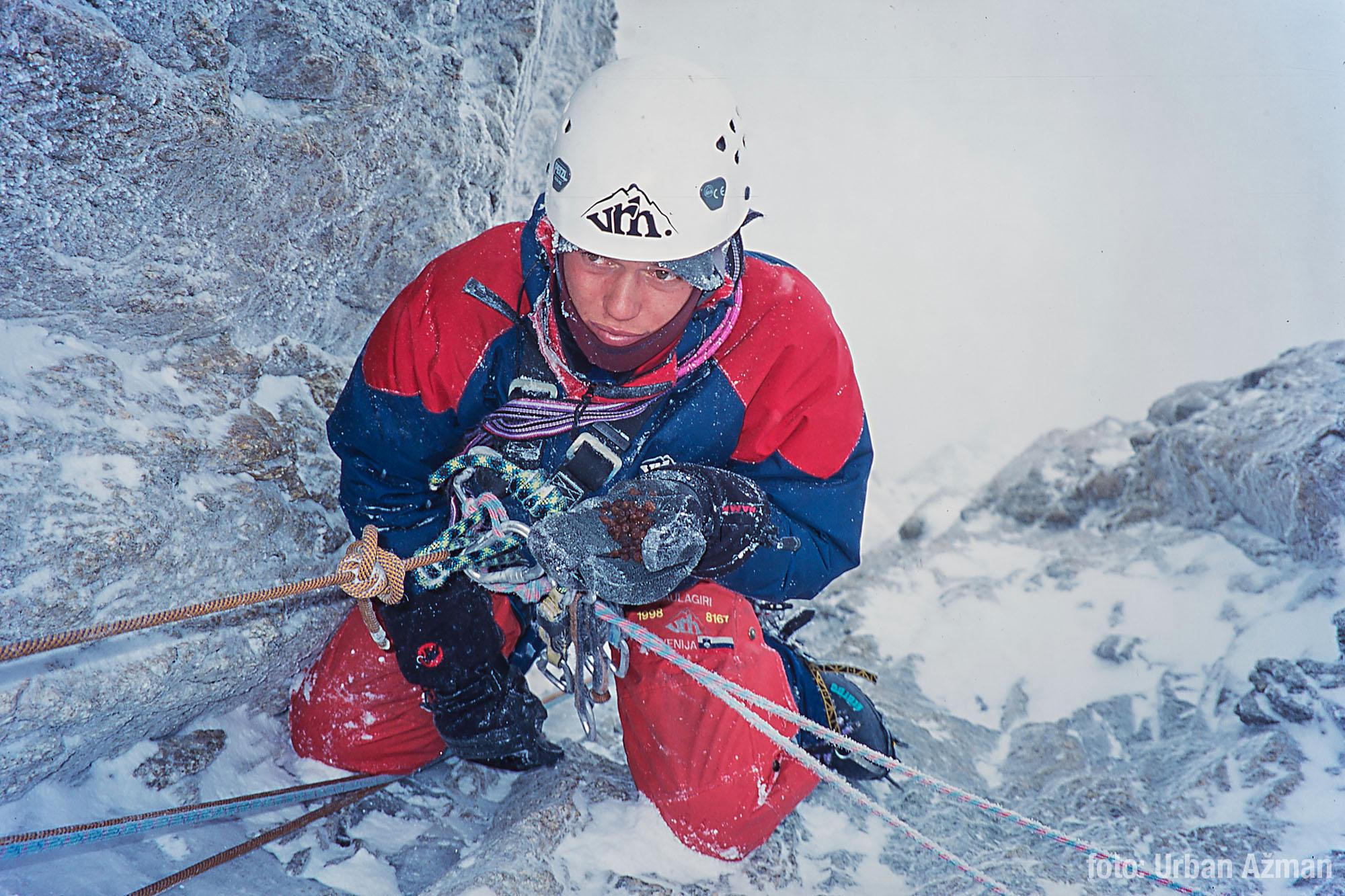 diapozitiv alpinist